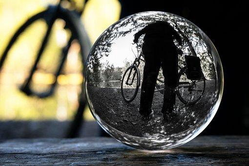 Cyclists, Glass Ball, Photo Sphere, Bike