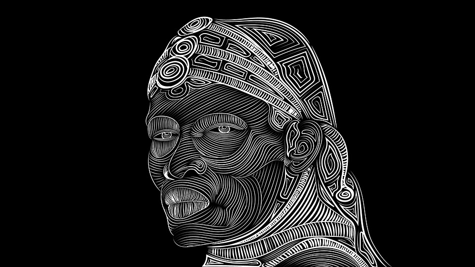 maasai tribal drawing free image on pixabay