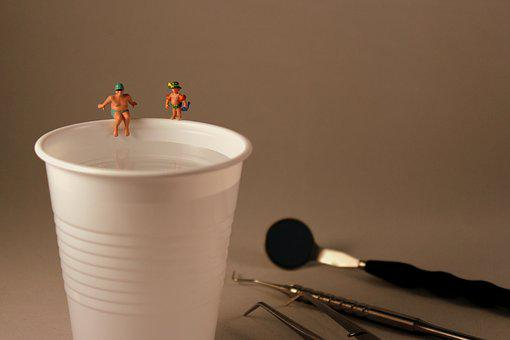 Dentist, Toys, Cup, Miniature, Rinse