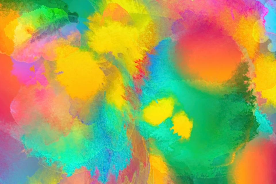 Free Photo Watercolors Rainbow Colors Lilac: Watercolor Color Abstract · Free Photo On Pixabay
