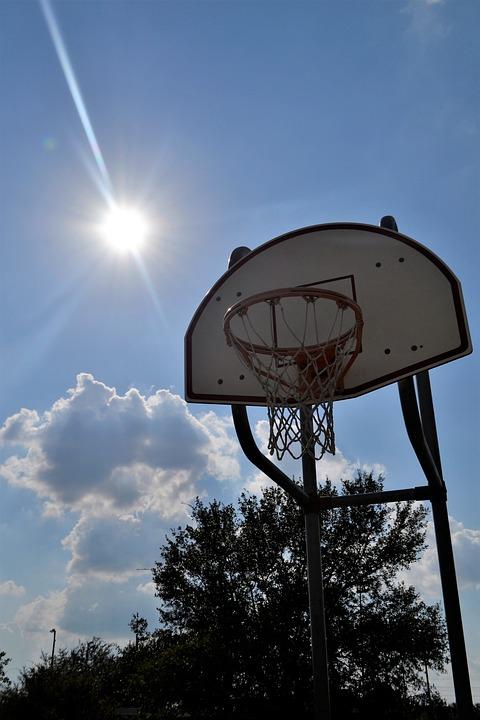 outdoor basketball court sunny day houston texas