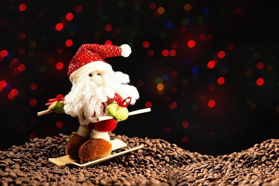christmas snowman lights santa claus snow december