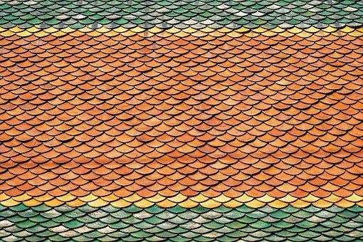 Roof, Roof Tiles, Scales, Antique, Art