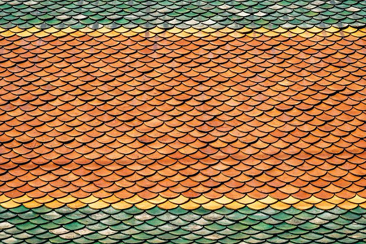 Roof, Roof Tiles, Scales, Background