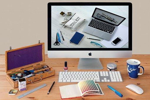 Komunikasi, Tempat Kerja, Imac, Desktop