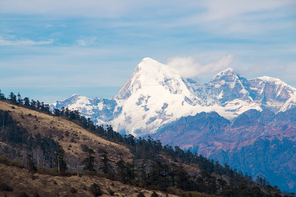 Bhutan, Himalayan range