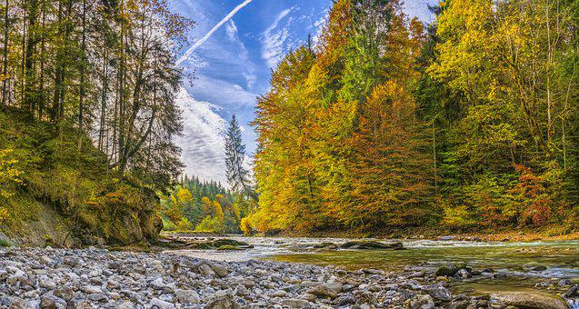 Ammer, Autumn, River, Beautiful, Hiking