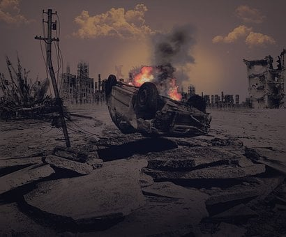 黙示録, 終了時刻, 戦争, 破壊, 燃やす, 火, 大暴れる, 暴動, テロ