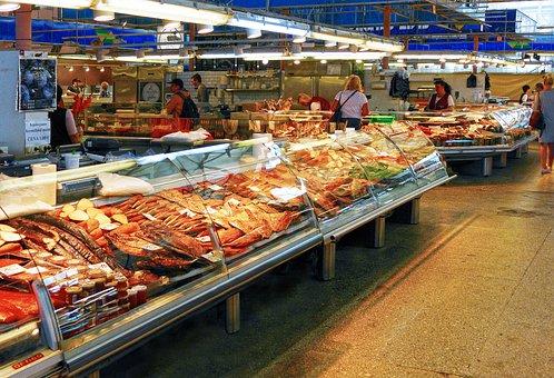 Fish, Fish Market, Sales Stand
