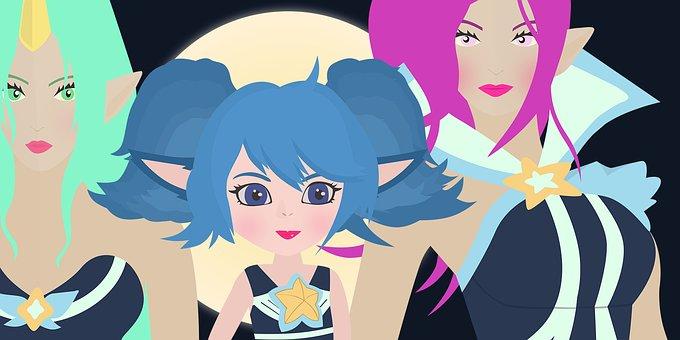 League Of Legends, Soraka, Janna, Poppy