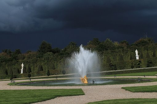 Versailles, Paris, France, Plaza, Garden
