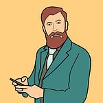 mustache, beard, man