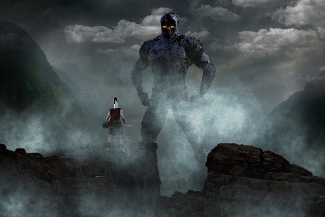 free photo titan fighter landscape mystical free