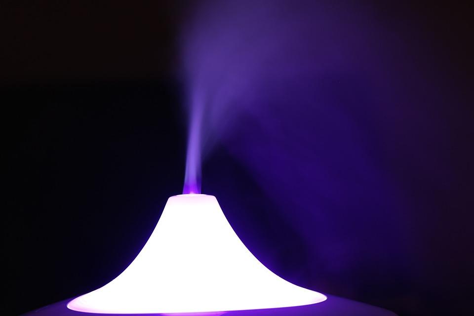 光, 煙, 色, Led, 加湿器, 気分, 香りのランプ