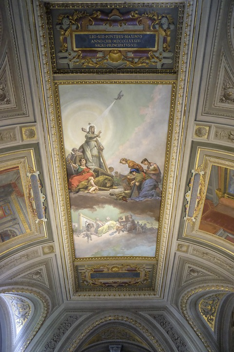 who painted vatican museum ceiling