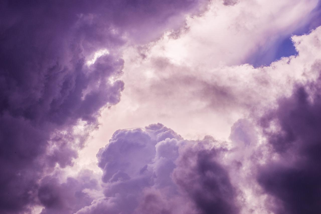 Небо сиреневые картинки