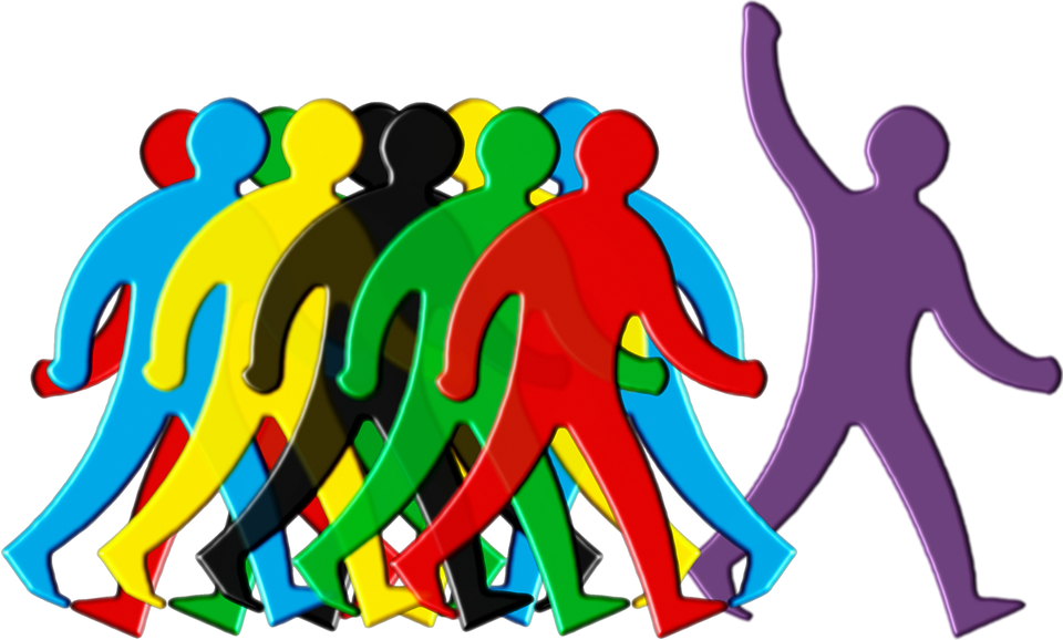 Leader, Crowd, Stand Out, Group, Personnel, Staff