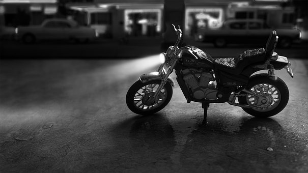 Motorcycle, Motorbike, Sin City, Toy