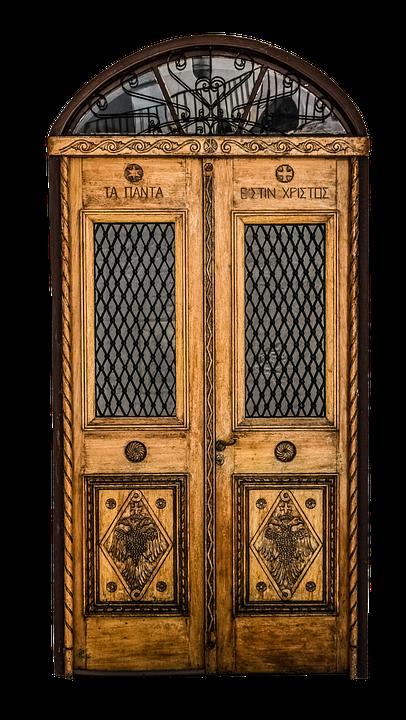 Door, Front Door, Old, Wood, Glass, Oak