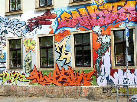 Dresden, Graffiti, House Facade, Art