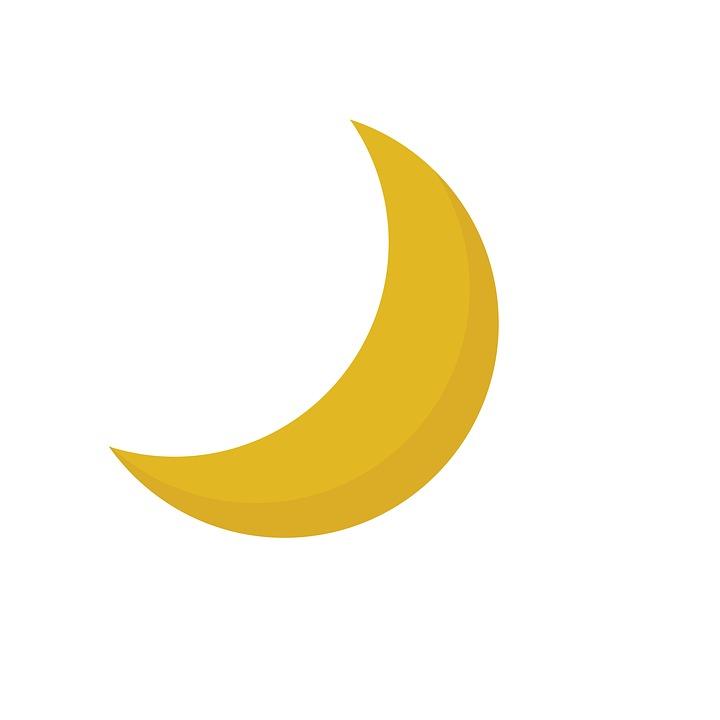 The Moon Waning Illustration Kids Clipart