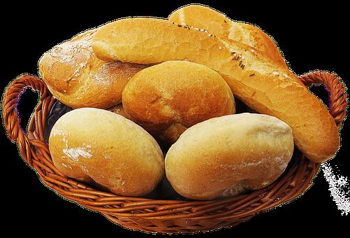 バスケット, パンかご, ロール, 食品, 主食, バゲット, 食べる