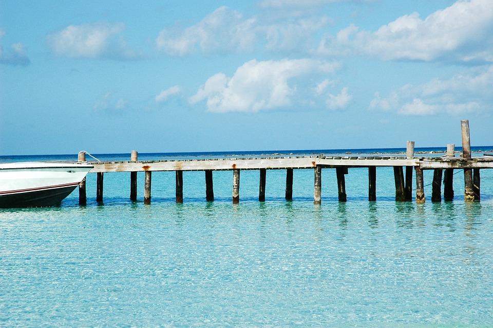 Belize, Morza, Most, Szczudło, Wharf, Turkus