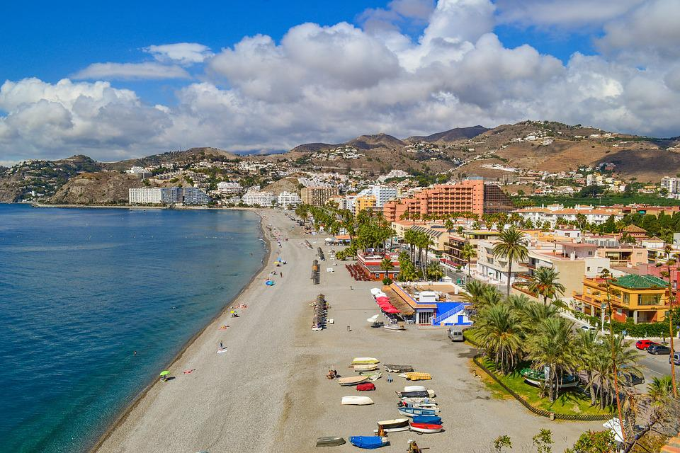 Almuñécar, España, Playa, Mar, Mar Mediterráneo, Europa