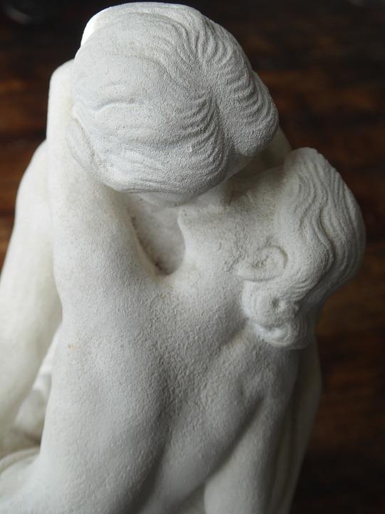 Détail, Le Baiser, Sculpture, Kiss, Rodin, Couple
