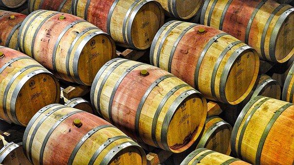 Vin, Barils, Tonneaux De Vin, Vin Rouge