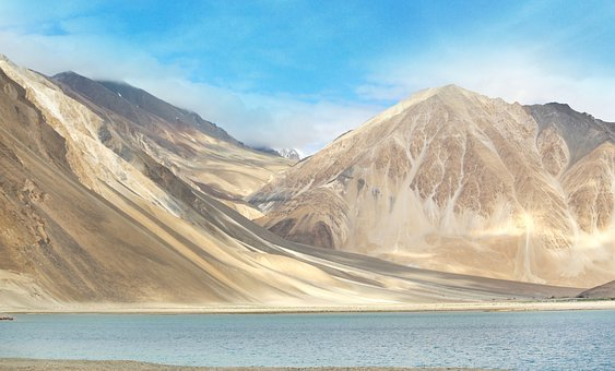 Ladakh, Mountains, River, Travel