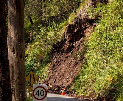 Landslide, Landslip, Erosion, Road
