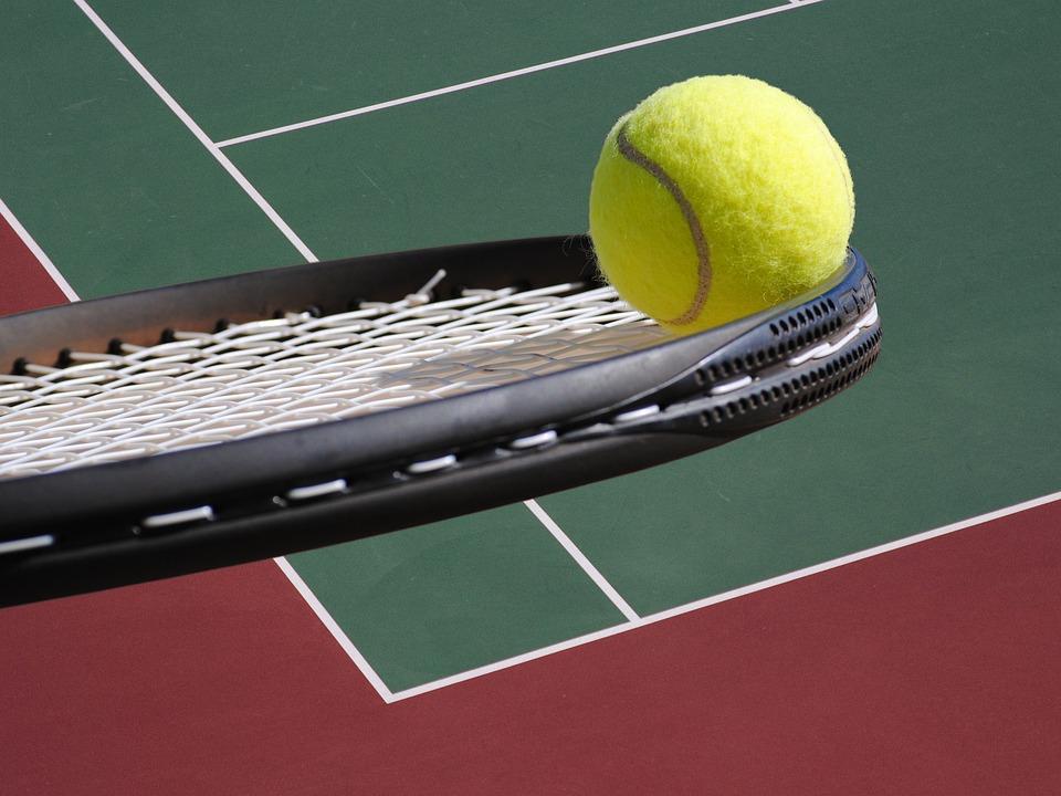 53b442d455 Tênis Bola Raquete Tribunal De · Foto gratuita no Pixabay