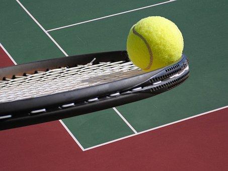 Tennis, Boule, Raquette, Cour