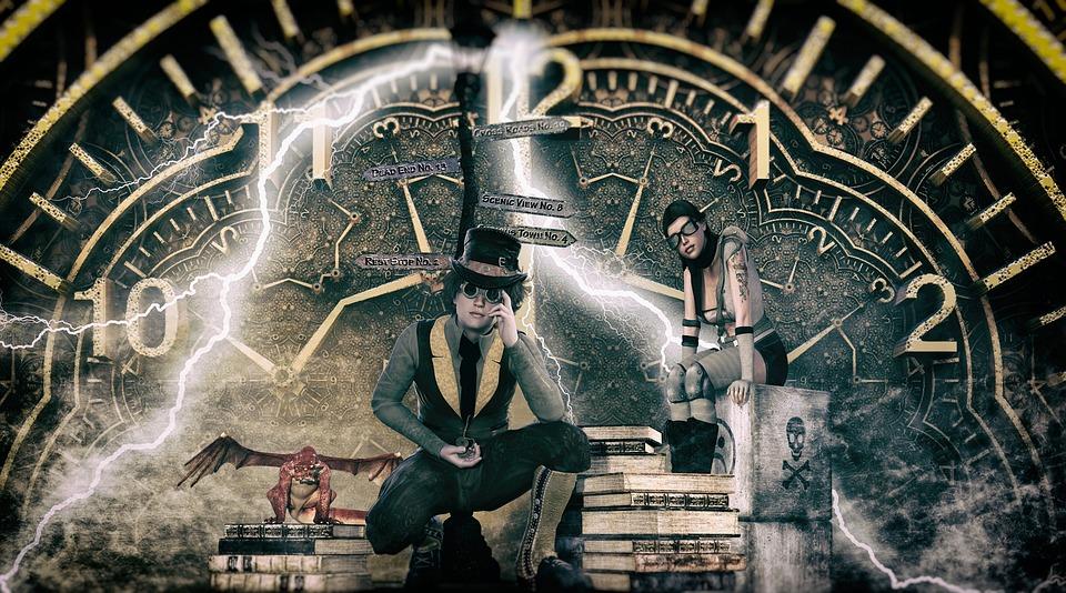 Steampunk, Time, Clock, Brass, Victorian, Dream Factory
