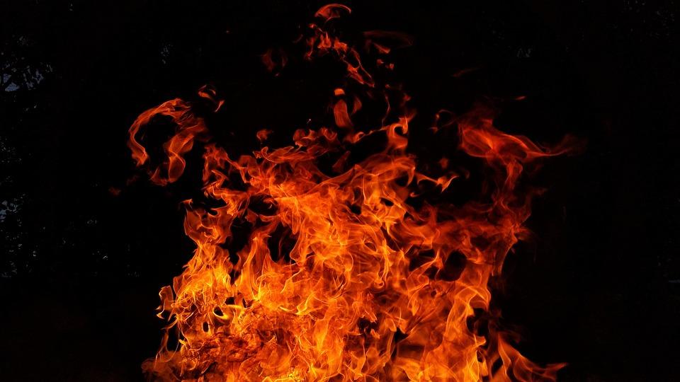 Fire, Flames, Red, Hot, Burn, Orange, Black Fire