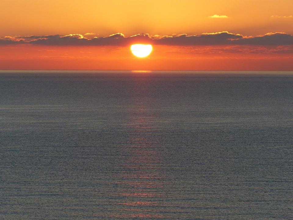 Dawn, Sea, Sun, Spain, Sunrise Sea, Sunrise Landscape