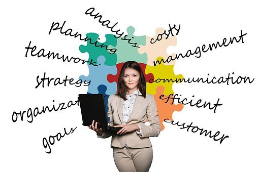Businesswoman, Business, Puzzle
