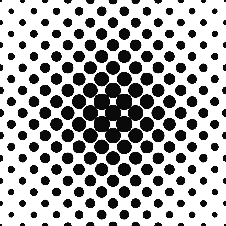 Free illustration: Circle, Pattern, White, Dot, Black