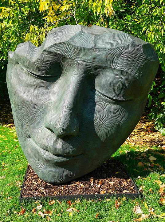 The Face Sculpture Bronze Face Kew Gardens London