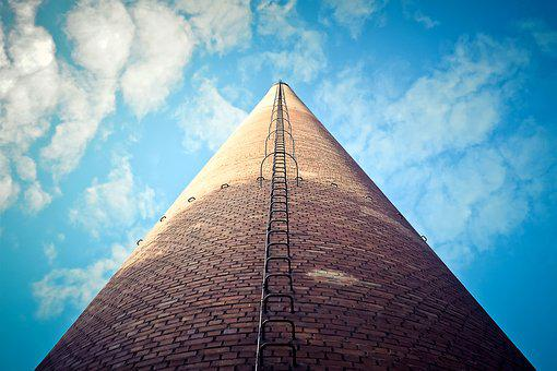 Chimney, Building, Coking Plant, Bill