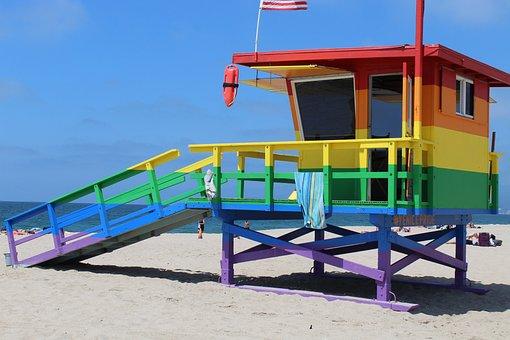 Praia, Salva Vidas, Arco Íris, Lgbt