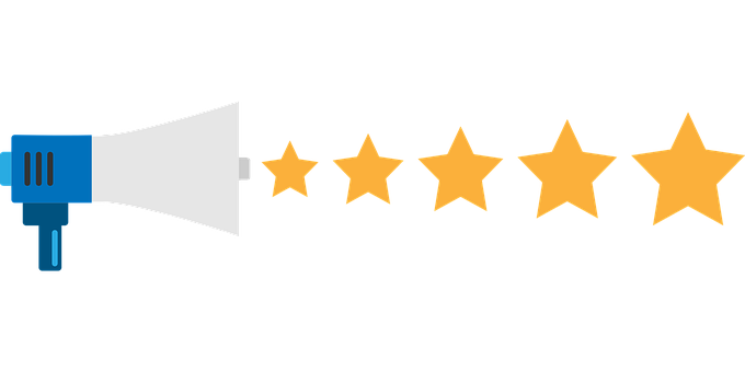 Feedback, Stars, Rating, Megaphone | Hospitality Customer Service