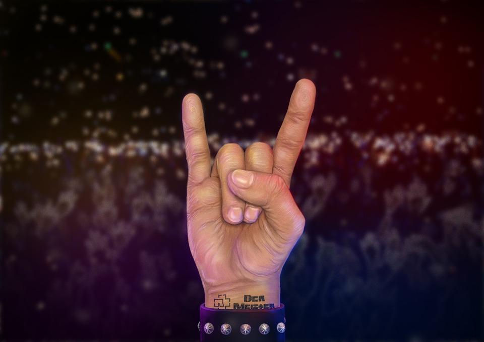 Рука, Рок, Руки, Концерт, Металл, Рисунок, Rammstein