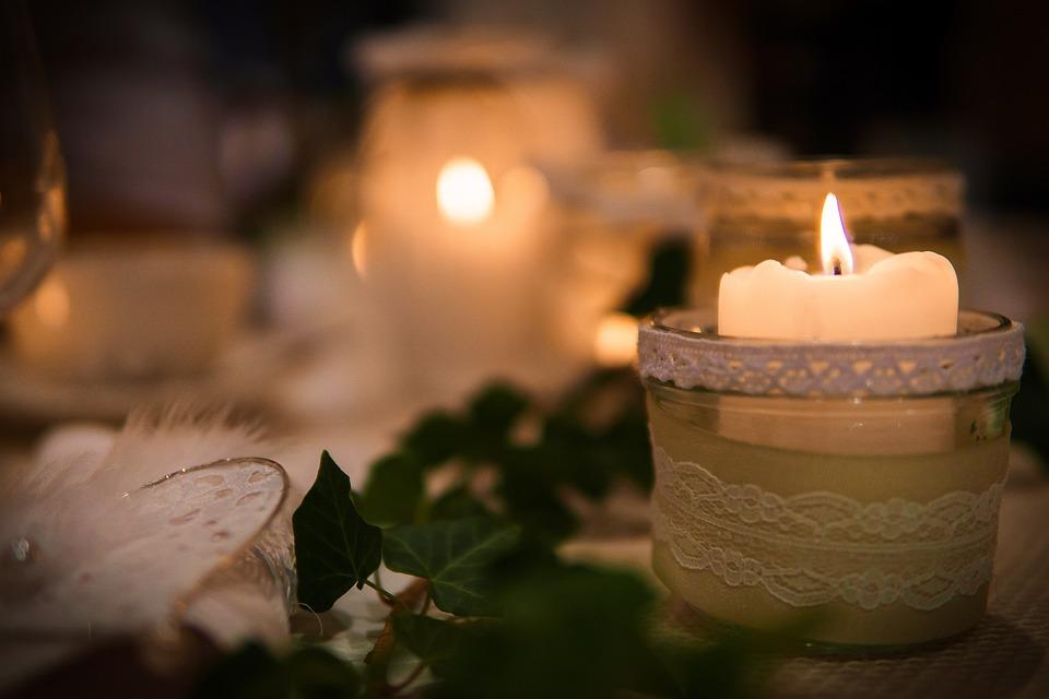 Sviečkach, Svetlo, Svadba, Romantický, Oslava