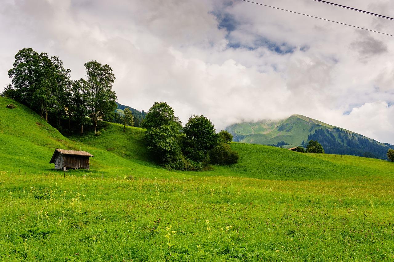 картинка горы или холмах направление