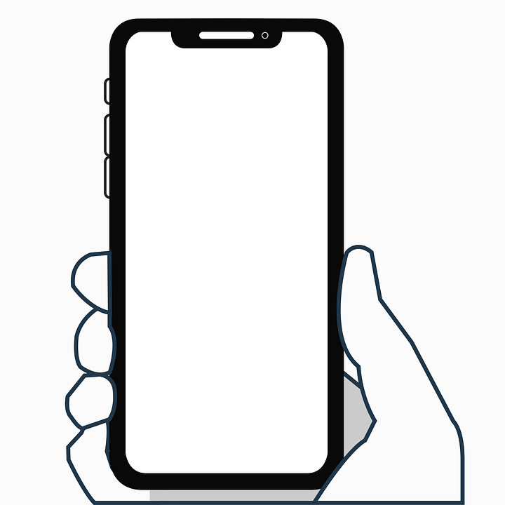 Iphone X Symbol Flaches Design Smartphone