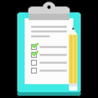 List, Notes, Icon, Flat Design