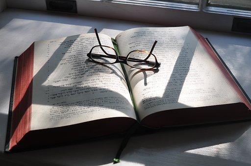 Hebräisch, Gläser, Bibel, Schatten