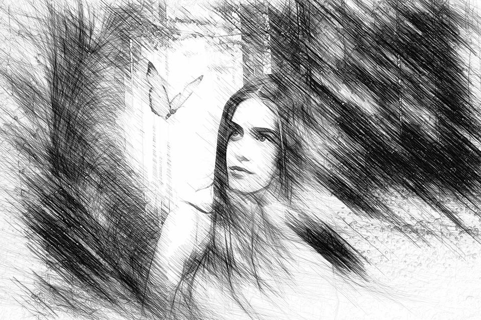 Woman Girl Drawing Free Image On Pixabay